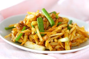 ジャガ納豆のカレー風味