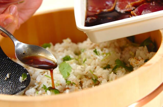 漬けカツオの手ごね寿司の作り方の手順9