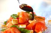トマトのフレッシュバジル和えの作り方1
