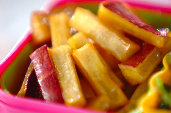 サツマイモの箸休め