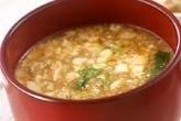 豆腐のくずしスープ