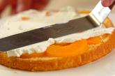 桃のデコレーションケーキの作り方5