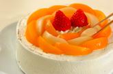 桃のデコレーションケーキの作り方6
