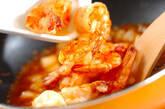 しゃりしゃりエビチリ丼の作り方9