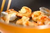しゃりしゃりエビチリ丼の作り方7
