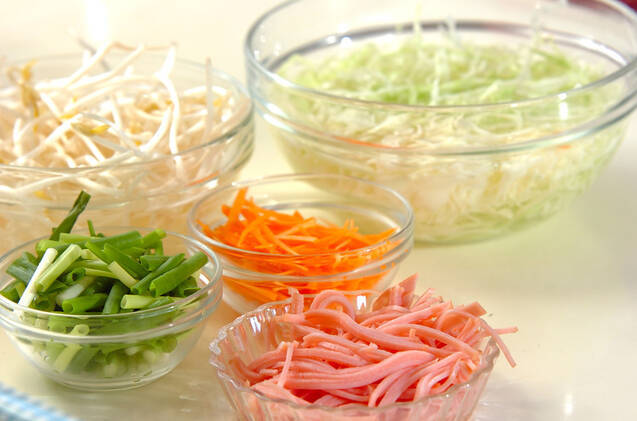 たっぷり野菜の冷麺の作り方の手順2