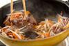 牛肉入りゴボウの食物繊維たっぷりきんぴらの作り方の手順6
