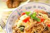 キノコのスパゲティの作り方の手順