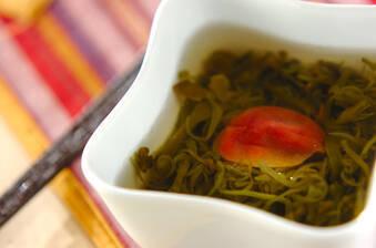めかぶと梅のスープ