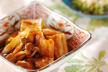 豚肉と焼き豆腐の煮物