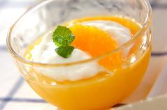 ヨーグルトのせオレンジゼリー