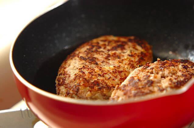 ジューシー!キノコのトマト煮込みハンバーグの作り方の手順9