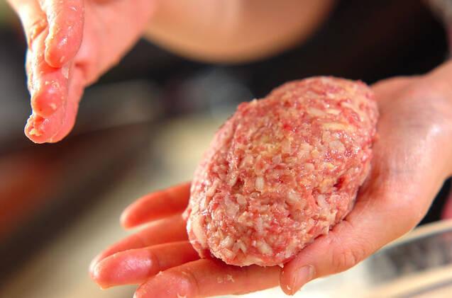 ジューシー!キノコのトマト煮込みハンバーグの作り方の手順8