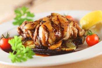 蒸焼鶏バルサミコ味