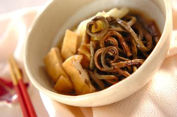 ゼンマイと揚げの煮物