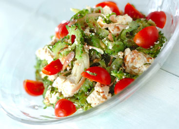 豆腐とゴーヤのサラダ