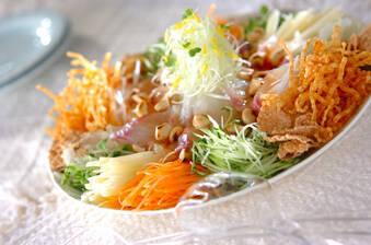お魚のサラダ
