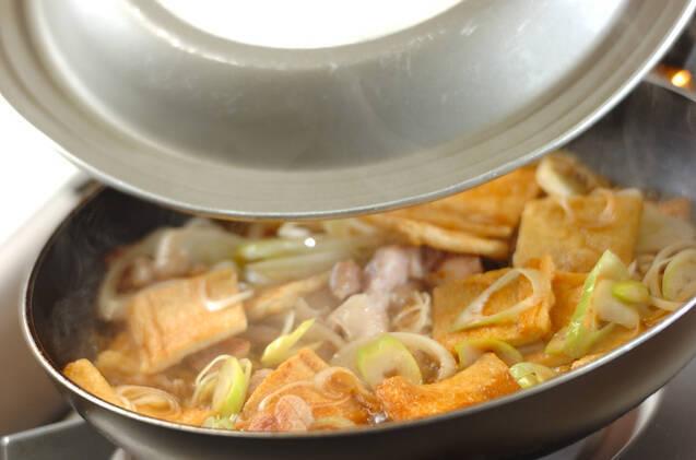 鶏と油揚げの炒め煮の作り方の手順3