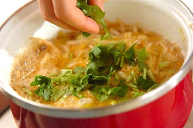鶏ひき肉の親子丼の作り方の手順7