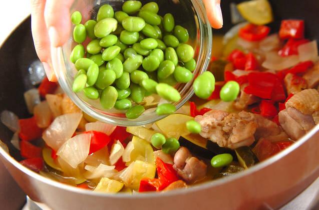 鶏肉と彩り野菜のビネガー煮の作り方の手順8