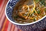 根菜のせん切りスープ