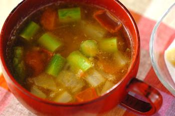 玄米入りスープ