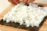 鶏の唐揚げ巻き寿司の作り方2