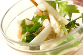 長芋とホタテの甘酢和えの作り方1