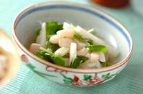 長芋とホタテの甘酢和え