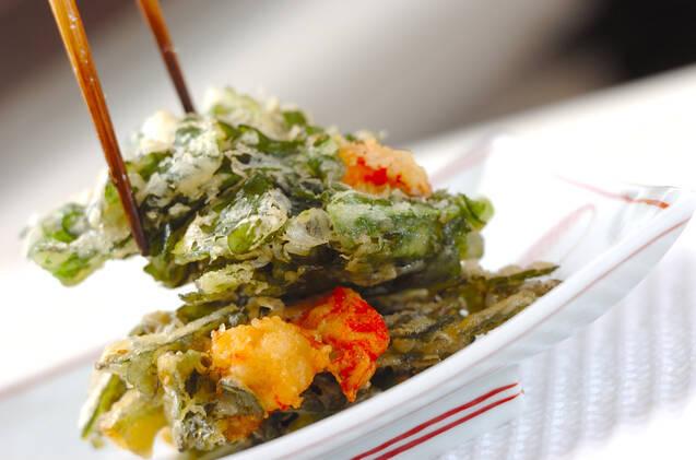 菊菜のかき揚げの作り方の手順8