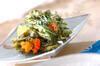菊菜のかき揚げの作り方の手順