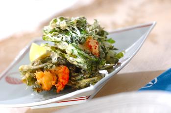 菊菜のかき揚げ