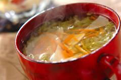 せん切りレタスのスープ