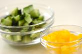 納豆サラダの下準備2