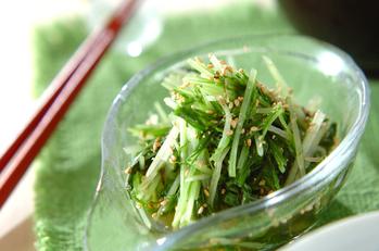 炒め水菜のお浸し