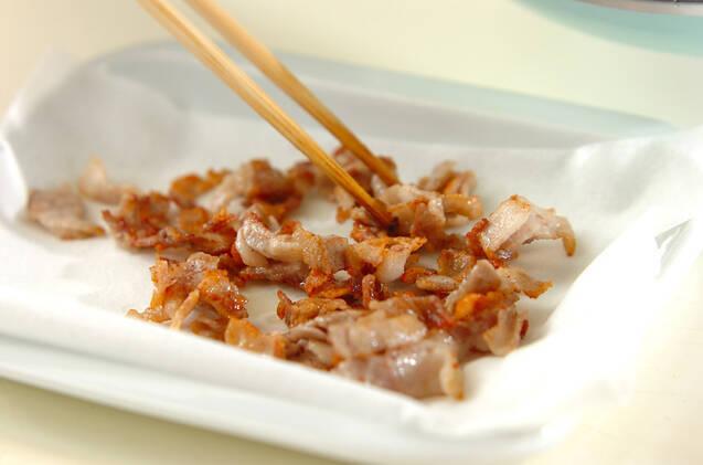 カリカリ豚とゴーヤのチャーハンの作り方の手順7