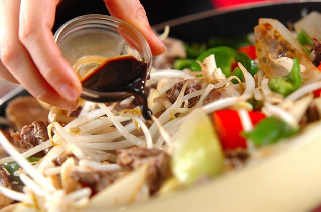 牛肉とモヤシのソース炒めの作り方の手順8