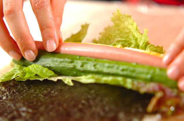 ウインナーのサラダ巻きの作り方の手順9