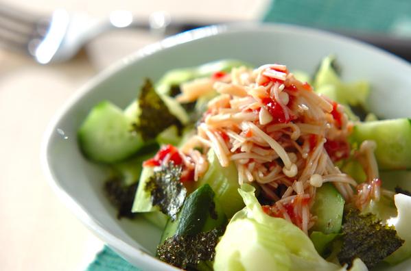 2. エノキのサラダ