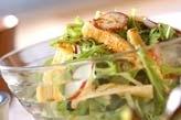 水菜シャキシャキサラダ