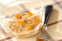 納豆とナメコの梅和え