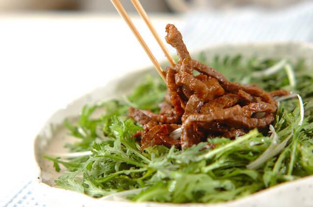 菊菜と牛肉のサラダ風の作り方の手順8