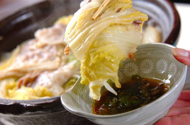 ポン酢でいただく 白菜たっぷりカキの味わい鍋の作り方の手順9