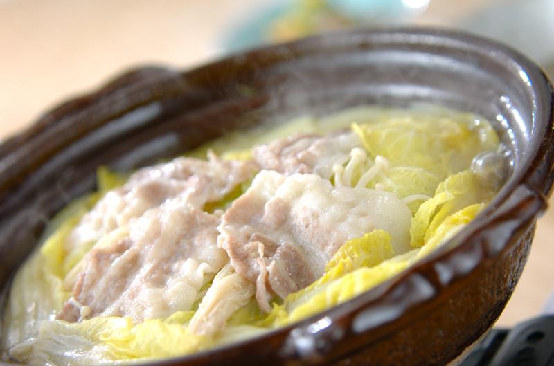 白菜カキ鍋