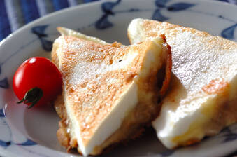 ハンペンのチーズはさみ焼き