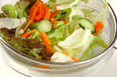 柑橘系ドレッシングサラダの下準備3
