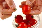 焼きパプリカとプチトマトのマリネの下準備1