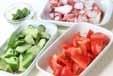 タコのコロコロサラダの下準備1
