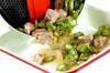 オクラと鶏のゼリーよせの作り方の手順5