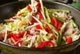 ふわふわ卵入り野菜炒めの作り方2